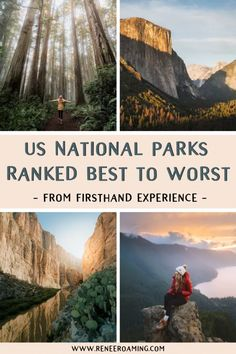 US National Parks Ranked Best To Worst - First-Hand Experience! Find out the best to worst ranked US National Parks by someone who has been to every single one of them! By Renee Roaming, who took an epic 7 month national parks road trip in Will it be Road Trip Usa, West Coast Road Trip, Solo Travel, Travel Usa, Alaska Travel, Alaska Cruise, Beach Travel, Travel Europe, Dream Vacations