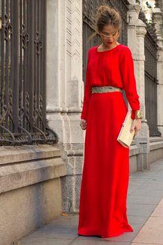 Me encanta  Rojo largo
