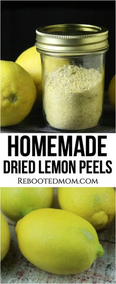Don't toss those leftover lemon peels! Use your leftover peels to make dried lemon peel powder quickly and easily using your dehydrator. Dehydrated Vegetables, Dehydrated Food, Dried Vegetables, Homemade Spices, Homemade Seasonings, Lemon Recipes, Healthy Recipes, Drink Recipes, Jar Recipes