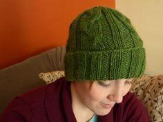 knit hat pattern for men or women