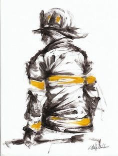 Want to try sketch this for practice Firefighter Crafts, Firefighter Apparel, Firefighter Paramedic, Firefighter Love, Volunteer Firefighter, Firefighter Drawing, Firefighter Tattoos, Fire Dept, Fire Department