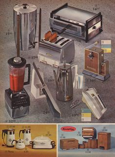 Kitchen Appliances and Corningware from the J.C. Penney Catalog, 1966