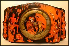 'At midnight on Halloween...' - This was one of my favorite clocks~ it's incredibly old.  Halloween Treasure Studio © 2011 ~ Artwork by Cali Lee, LLC All Rights Reserved