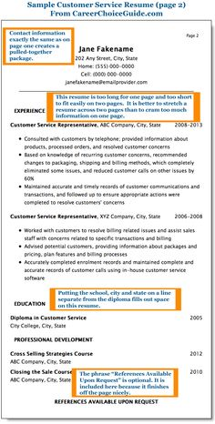 16 best Resume images on Pinterest | Resume examples, Sample resume ...