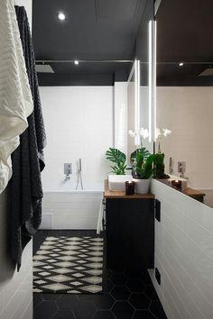 Banheiro com teto preto, mais uma idéia para nossa casa nova.