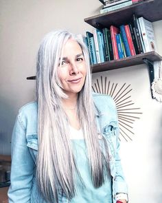 Instagram Going Gray, Gray Hair, Dreadlocks, Feminine, Long Hair Styles, Grey, Beauty, Instagram, Women's