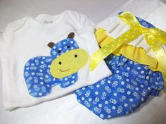 Newborn Baby Diaper Cover Set   Hippo Baby Girl by PeaPodLilFrogs, $26.00