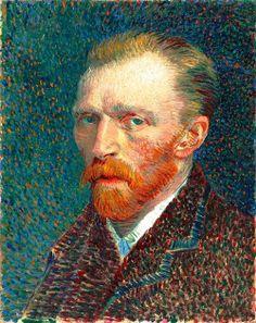 Van Gogh, Self Portrait, Spring 1887. Oil on artist's board, 41 x 32.5 cm