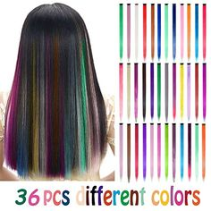 Seamless Hair Extensions, Colored Hair Extensions, Clip In Hair Extensions, Hair Streaks, Colored Highlights, Different Hairstyles, Light Hair, Hair Pieces, Hair Lengths