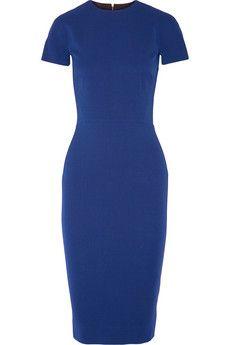 Victoria Beckham Silk and wool-blend crepe dress | NET-A-PORTER