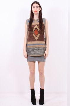 suede & knit soutwest vest 65