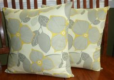 Decorative Accent Throw Pillow Covers  Cream Grey and by berly731, $27.00