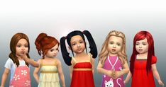 Another pack for toddlers available on my site.  Include 5 toddlershair I created for the Sims 4, you can have these without advertising. ...