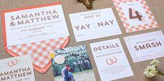 Modern Farm Wedding Invitation