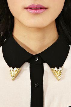 Crystal Collar Tips  $9 (On Sale Was 18 Dollars)