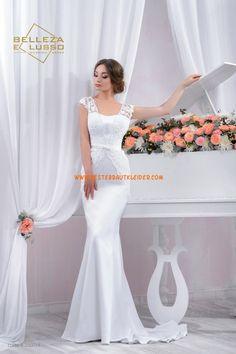Meerjungfrau Exklusive Schlichte Brautkleider aus Taft mit Applikation