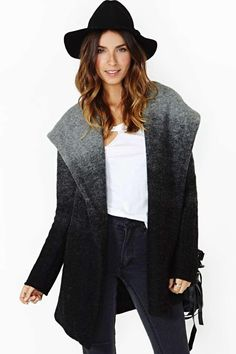 BB Dakota Ombre Hooded Coat