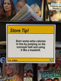 Funny, Guy Adds Store Tips All Over Grocery Store