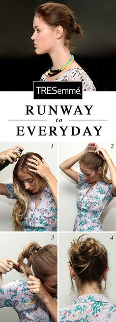 GET THE LOOK from FASHION WEEK: Try the fly-away knot at home. Click for more on how to get the look.