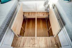 "24' ""Braxton"" Tiny House on Wheels by Modern Tiny Living  Tiny House Movement // Tiny Living // Tiny House Living Room // Tiny Home Storage // #TinyHouseonWheels #Architecture #Homedecor #TinyHome"