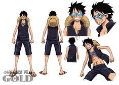 Nuevos diseños de personajes de la película ONE PIECE FILM GOLD.