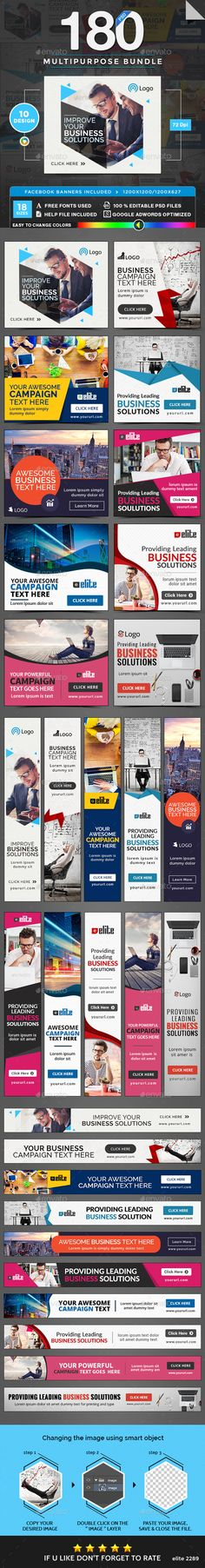 Multipurpose Banners Bundle - 10 Sets - 180 Banners - #Banners & Ads #Web Elements Download here:  https://graphicriver.net/item/multipurpose-banners-bundle-10-sets-180-banners/20009939?ref=alena994
