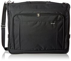 Delsey Luggage Helium Deluxe Garment Bag Black One Size * Read more  at the image link. Travel Luggage, Best Carry On Luggage, Garment Bags, Pin Image, Luggage Brands, Free Travel, Shoulder Strap, Shoulder Bags, Pockets