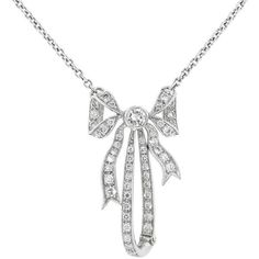 Designer Diamond Bow Pendant - Platinum ($3800)  liked on Polyvore featuring jewelry necklaces ariana grande silver diamond pendant diamond jewellery diamond jewelry diamond bow jewelry and chain jewelry
