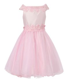 Another great find on #zulily! Pink Lace Dress - Toddler & Girls by Richie House #zulilyfinds