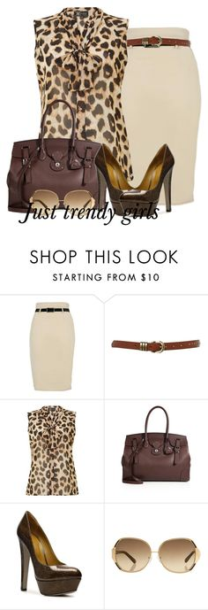 """""""pencil skirt"""" by justtrendygirls ❤ liked on Polyvore featuring Ollie & Nic, Lipsy, Ralph Lauren Collection, Sergio Rossi and Oscar de la Renta"""
