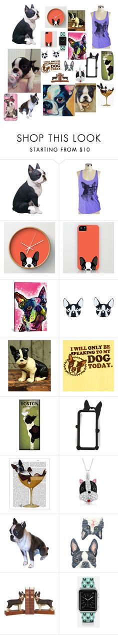 """""""Boston Terriers"""" by skylerwahlberg ❤ liked on Polyvore featuring interior, interiors, interior design, home, home decor, interior decorating, Sandicast, iCanvas, Vinca and HomArt"""