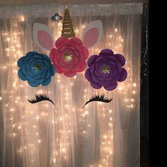 Unicorn Flower DIY Unicorn Birthday Unicorn Party Unicorn Backdrop Unicorn Party Decorations Unicorn Baby Shower Decorations Backdrop - New Sites Unicorn Themed Birthday Party, 1st Birthday Parties, Birthday Ideas, Diy 1st Birthday Party, Unicorn Themed Room, Birthday Party Centerpieces, 21st Party, Nye Party, Birthday Crafts