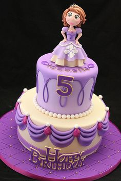 Sofia the First cake - could easily be adapted to match the birthday girl's looks / favorite color / age