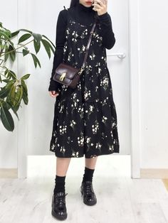 elegant women fall fashion everyone will fall in love 26 Korean Fashion Fall, Asian Fashion, Autumn Fashion, Fashion Photo, Modest Outfits, Modest Fashion, Hijab Fashion, Modest Wear, Estilo Harajuku
