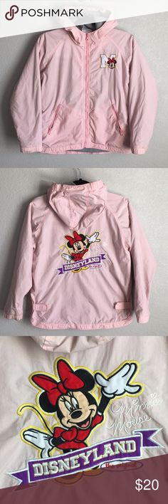 DISNEYLAND RESORT Minnie Mouse Zip Up Jacket Youth Original Classic DISNEYLAND RESORT Minnie Mouse Zip Up Jacket Youth  Color: Pink   Size: L (Girls Youth)   XS (Women's)   Condition: Preowned. No major flaws. Little signs of use. Good condition. Disneyland Resort Jackets & Coats