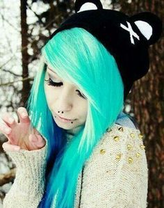 Stupendous Emo Girls My Hair And Black And Blue On Pinterest Short Hairstyles Gunalazisus