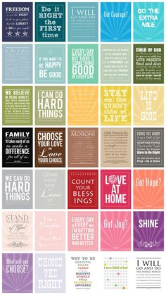 Printable quotes for Project Life - a scrapbooking technique I'm using in 2014 by kelli