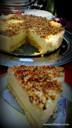 τούρτα λεμόνι Greek Sweets, Greek Desserts, Party Desserts, Summer Desserts, Lemon Recipes, Sweets Recipes, Greek Recipes, Cooking Recipes, Food Network Recipes