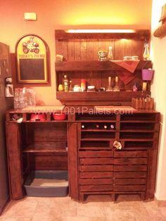 Wine cellar, bar and shelf | 1001 Pallets