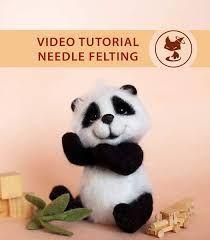 Video Master Class Needle Felted Cute Panda By Elena Fedoryak ...