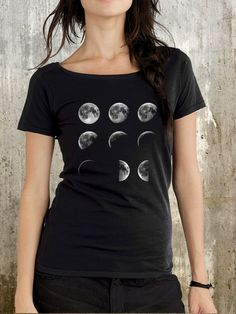 Moon Phases Women's Scoop Shirt - http://ninjacosmico.com/28-cool-grunge-items-etsy/5/