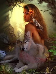 "Spirit of Wolf. ""When you need me, just whisper my name in your heart. I will be there..."""