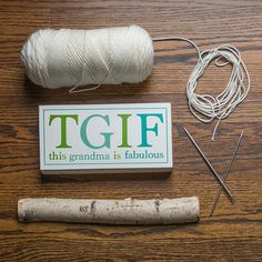 """Give this sign because TGIF stands for """"this gift is fantastic."""""""