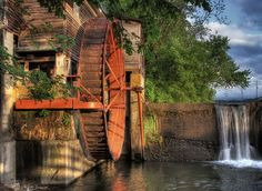 The Water Wheel by Steve'53, via Flickr. Image taken in Pigeon Forge Tennessee. The Old Mill