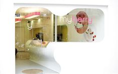 We are a global and creative design studio in Geneva, Tokyo and Beijing. White Bar Table, Shop Display Stands, Shop Facade, Interior Architecture, Interior Design, Frozen Yoghurt, Store Windows, Wave Design, Price List
