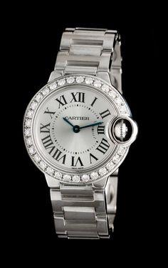 An 18 Karat White Gold and Diamond Ballon Bleu Wristwatch, Cartier   Fine Timepieces   April 4, 2016 in Chicago