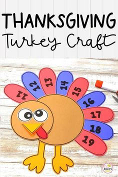 Are you looking for a turkey craft to add to your Thanksgiving lessons? You will love this cut and paste turkey that is perfect for Preschool, Kindergarten, First, Second and Third grades. This turkey craft is so much fun and practices a variety of skills including time to the hour, teen numbers, fractions and multiplying. Simply print the templates and have students cut and assemble. This download also includes blank feathers which can be used for practicing first or last names. Kindergarten Thanksgiving Crafts, Thanksgiving Crafts For Toddlers, Thanksgiving Crafts For Kids, Preschool Kindergarten, Preschool Activities, First Grade Crafts, Teen Numbers, Turkey Craft, Autumn Activities