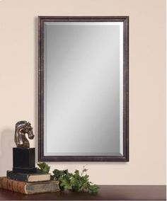 Uttermost - 14442 B Renzo Bronze Vanity Mirror Mirror Wall Collage, Wall Mirrors Entryway, Mirror Gallery Wall, Mirror House, Round Wall Mirror, Mirror Hanging, Mirror Bedroom, Mirror Glass, Mirror Set