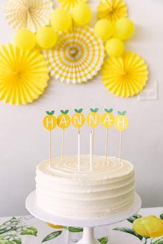 Yellow Birthday Parties, Birthday Celebration, 18 Birthday Party Themes, Birthday Invitations, Yellow Birthday Cakes, Birthday Ideas, First Birthday Parties, Birthday Cards, Simple Birthday Decorations