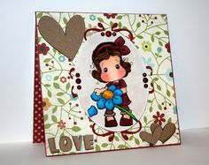 Beautiful handmade LOVE card with Tilda by rbowen on Etsy